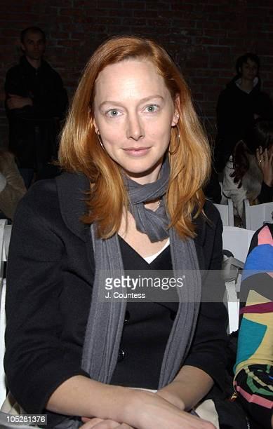 Ann Christianson during Olympus Fashion Week Fall 2004 Sebastian Pons Front Row at Angel Orensanz Foundation in New York City New York United States