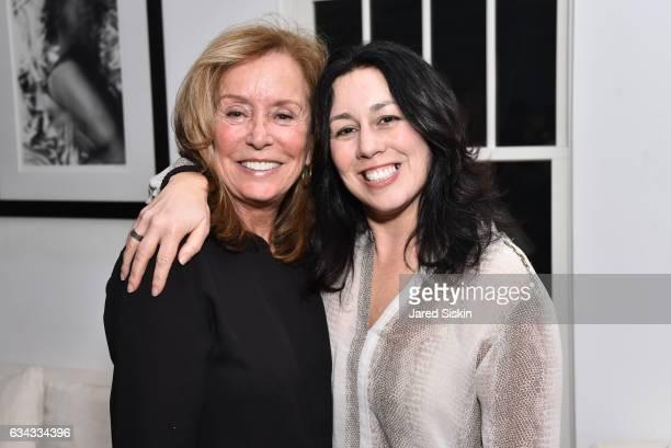 Ann Ciardullo and Kristin Regan attend AVENUE Celebrates the New Year at Pierre's on February 8 2017 in Bridgehampton New York