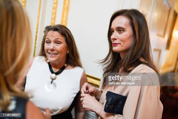 Ann Clairmont and Julia Jeressati attend American Federation Of Arts 2019 Spring Luncheon at Metropolitan Club on June 4, 2019 in New York City.