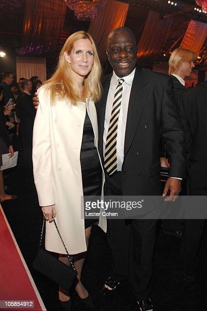 Ann Coulter and Jimmie Walker during 5th Annual TV Land Awards Backstage at Barker Hangar in Santa Monica California United States