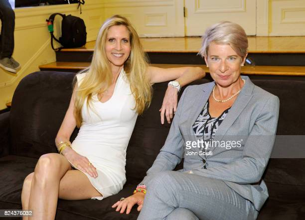 Ann Coulter and Katie Hopkins at Politicon at Pasadena Convention Center on July 29 2017 in Pasadena California
