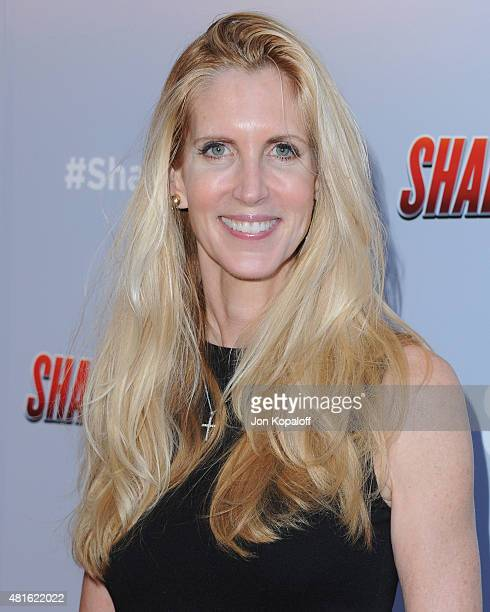 Ann Coulter arrives at the Premiere Of The Asylum's 'Sharknado 3 Oh Hell No' at iPic Theaters on July 22 2015 in Los Angeles California
