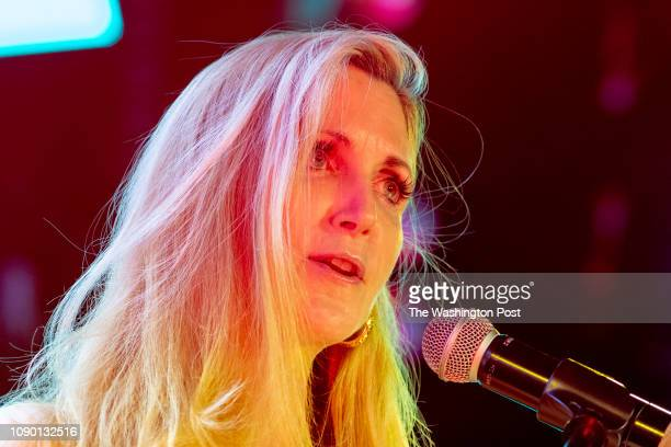 Ann Coulter conservative commentator speaks to the crowd at the Globe Theater during the first Blexit rally in downtown Los Angeles Blexit is an idea...