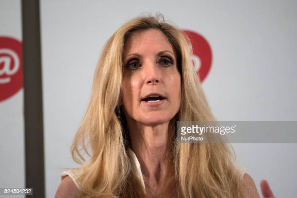 Ann Coulter speaks during Politicon at the Pasadena Convention Center in Pasadena California on July 29 2017 Politicon is a bipartisan convention...