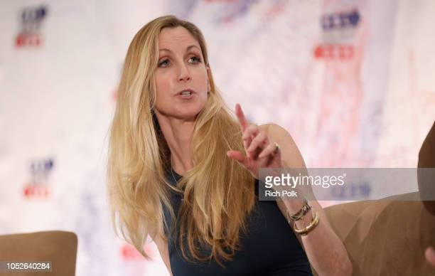 Ann Coulter speaks onstage during Politicon 2018 at Los Angeles Convention Center on October 20 2018 in Los Angeles California