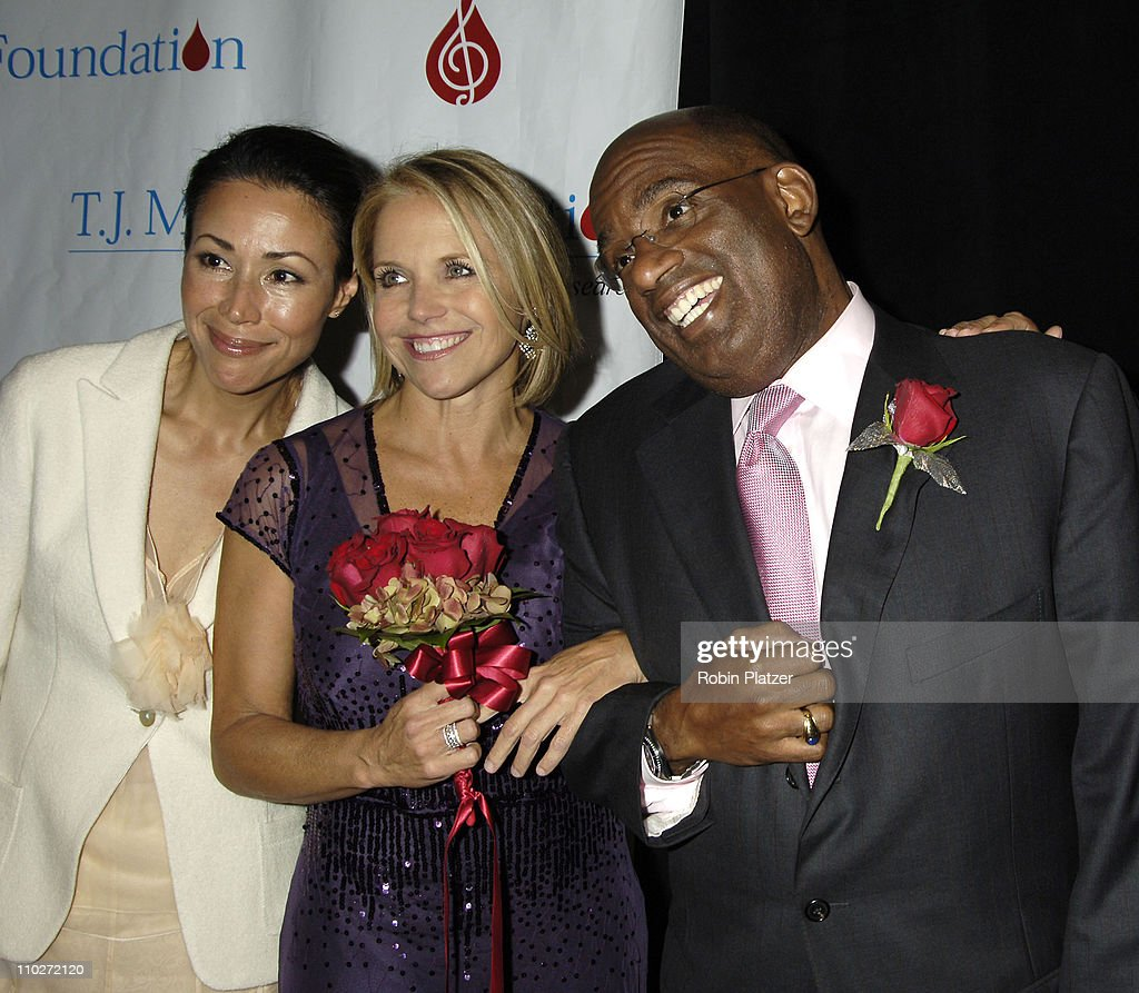 Ann Curry, Al Roker and Katie Couric during 30th Annual TJ Martell Foundation Gala at The Marriott Marquis Hotel in New York, New York, United States.