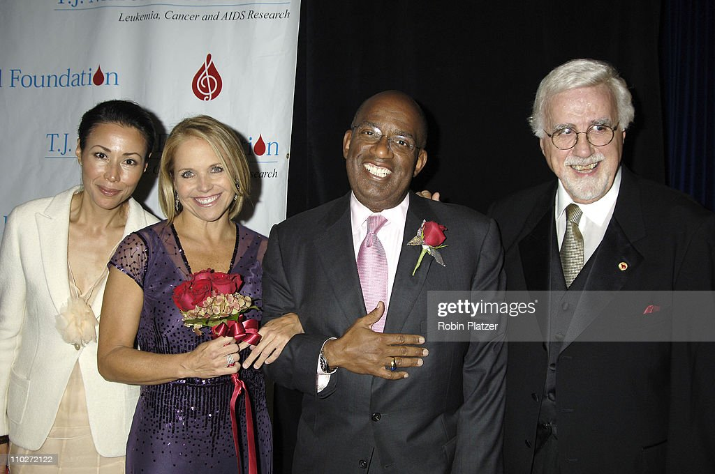 Ann Curry, Al Roker and Katie Couric with Tony Martell