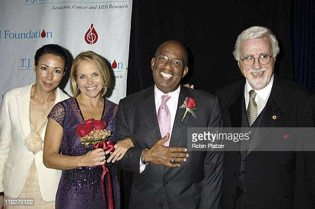 Ann Curry Al Roker and Katie Couric with Tony Martell