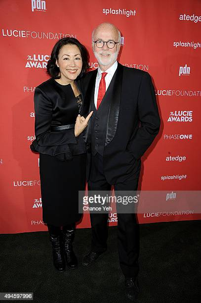 Ann Curry and David Hume Kennerly attend 13th Annual Lucie Awards at Zankel Hall, Carnegie Hall on October 27, 2015 in New York City.