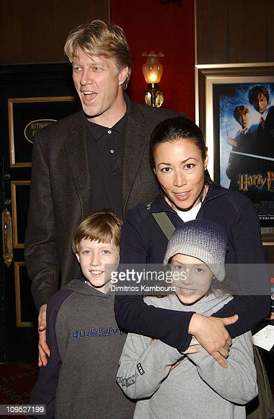 Ann Curry and family during 'Harry Potter and the Chamber of Secrets' New York Premiere Inside Arrivals at Ziegfeld Theatre in New York City New York...