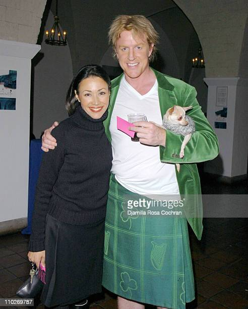 Ann Curry and John Ryan during Johnnie Walker Presents 'Dressed to Kilt' Arrivals and Backstage at Synod House at St John the Divine Cathedral Garden...