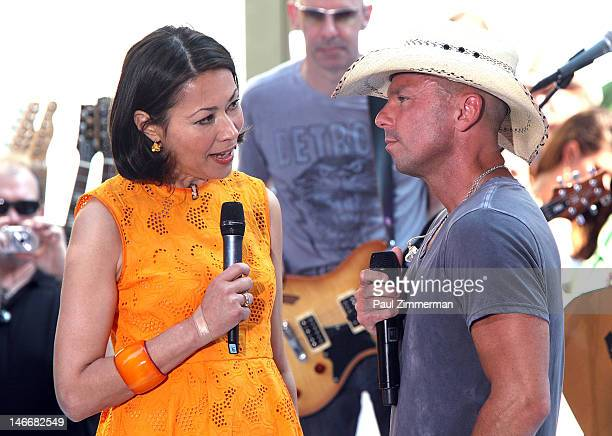 Ann Curry and Kenny Chesney on NBC's 'Today' at Rockefeller Plaza on June 22 2012 in New York City