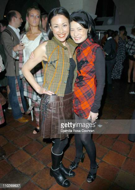 Ann Curry and Vivienne Tam during Johnnie Walker Presents 'Dressed to Kilt' Arrivals and Backstage at Synod House at St John the Divine Cathedral...