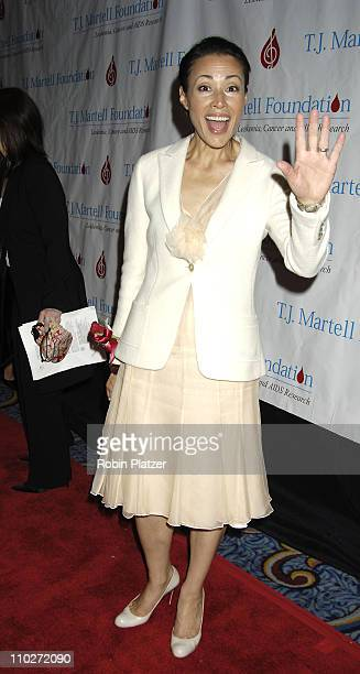 Ann Curry during 30th Annual TJ Martell Foundation Gala at The Marriott Marquis Hotel in New York New York United States