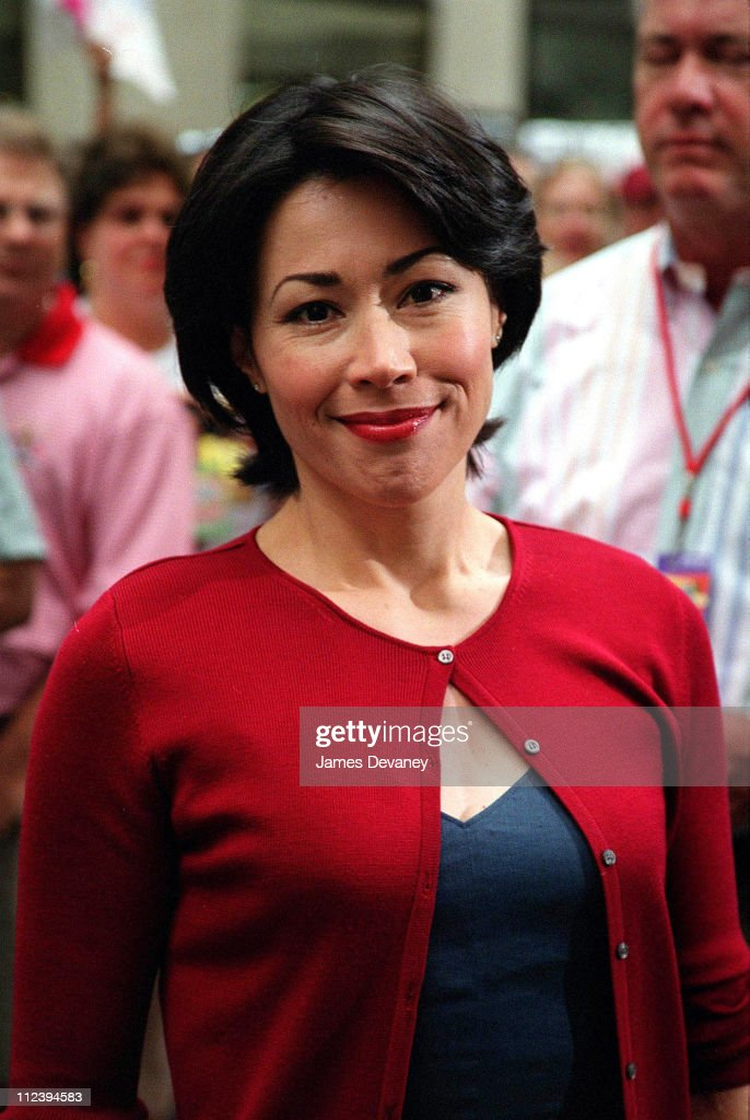 "Ann Curry Visits ""The Today Show"" - June 15, 2001"