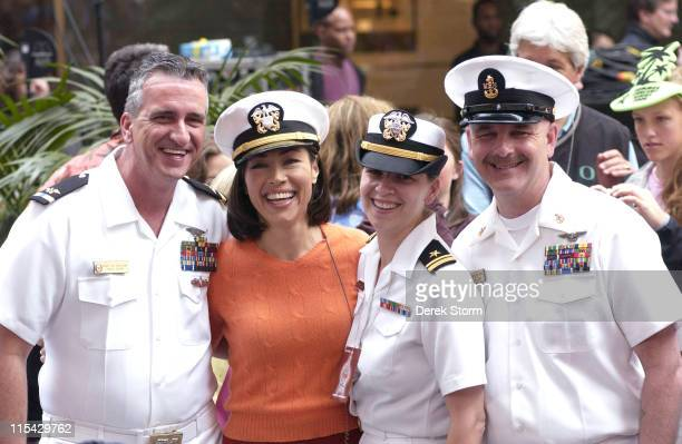 Ann Curry during Halle Berry and Jimmy Buffett Visit the 'Today Show' May 26 2006 at NBC Studio Rockefeller Center in New York City New York United...