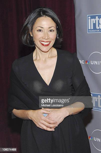 Ann Curry during IRTS Foundation Gold Medal Award Dinner Honoring NBC's CEO Jeff Zucker at The Waldorf Astoria in New York City United States