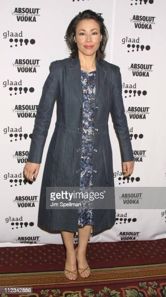 Ann Curry during The 13th Annual GLAAD Media Awards New York Arrivals at New York Marriott Marquis in New York City New York United States