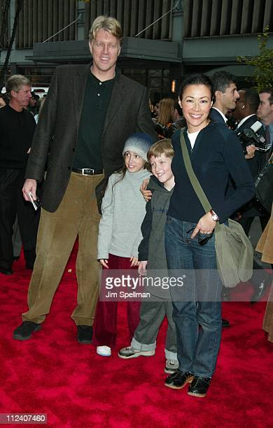 Ann Curry family during 'Harry Potter and the Chamber of Secrets' New York Premiere Arrivals at The Ziegfeld Theatre in New York City New York United...