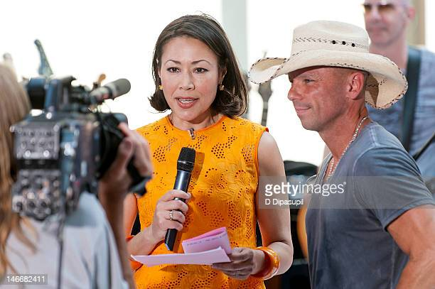 Ann Curry interviews Kenny Chesney on NBC's 'Today' at Rockefeller Plaza on June 22 2012 in New York City