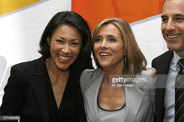 Ann Curry Meredith Vieira and Matt Lauer during NBC 20062007 Primetime Preview at Radio City Music Hall in Manhattan New York United States