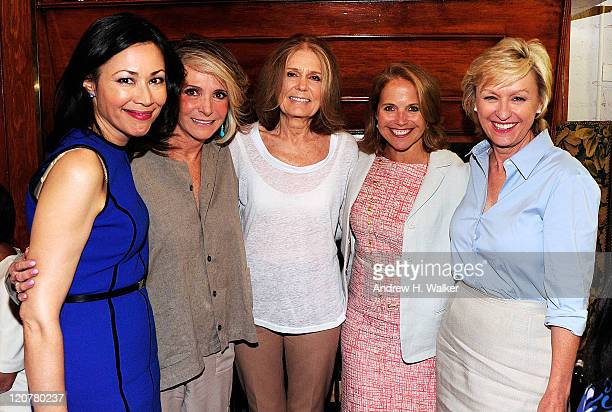 Ann Curry Sheila Nevins Gloria Steinem Katie Couric and Tina Brown talk at the 'Gloria In Her Own Words' luncheon at La Grenouille on August 10 2011...