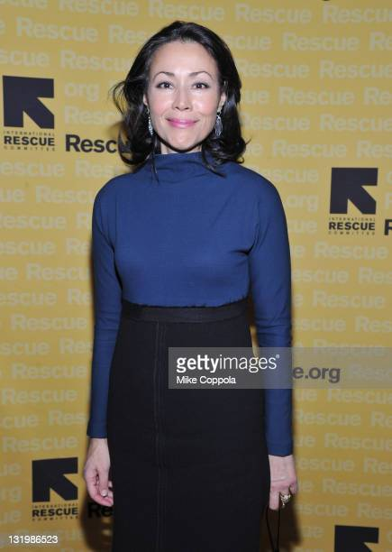 Ann Curry walks the red carpet for the International Rescue Committee's Annual Freedom Award benefit at the Waldorf Astoria Hotel on November 9 2011...