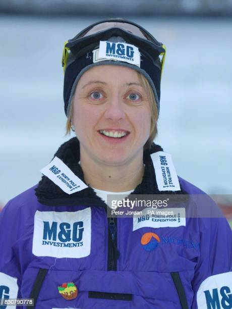 Ann Daniels age 37 from Exeter in Devon at a photo call in London for MG Investments North Pole Expedition 2002 Ann is part of an all British woman's...