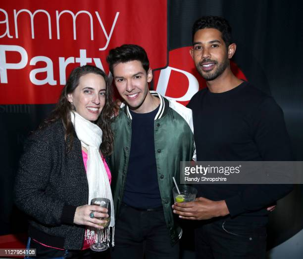 Ann DeGuilio and guests attend Reed Smith Grammy Party at Nightingale Plaza on February 06 2019 in Los Angeles California