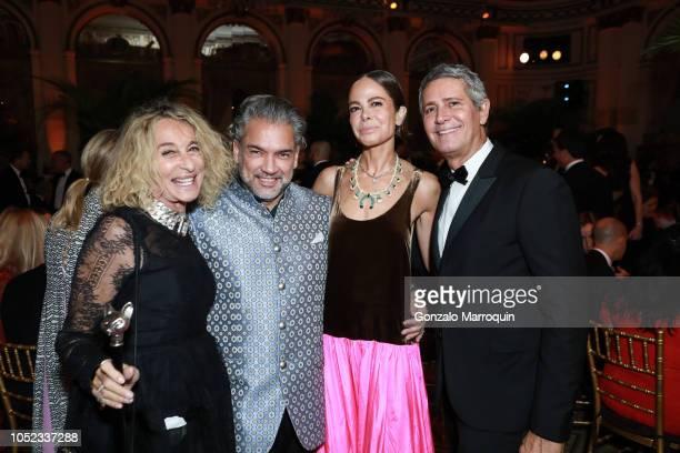 Ann Dexter Jones Carlos Mota Allison Sarofim and Carlos Souza during the Casita Maria Fiesta 2018 at The Plaza Hotel on October 16 2018 in New York...