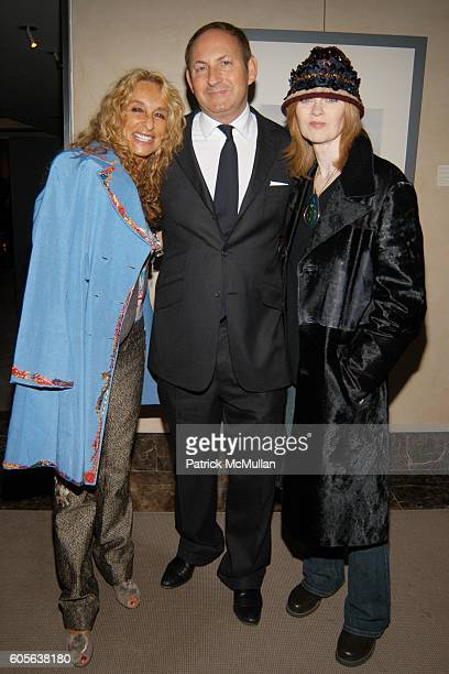 Ann Dexter Jones John Demsey and Bibi Monnahan attend ZAC POSEN After Show Party Sponsored by Grey Goose Vodka at Christies on February 9 2006 in New...