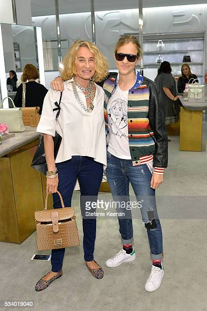 Ann DexterJones and Samantha Ronson attend Barneys New York Ann DexterJones And Annabelle DexterJones Host A Private Luncheon For Delvaux at Barneys...