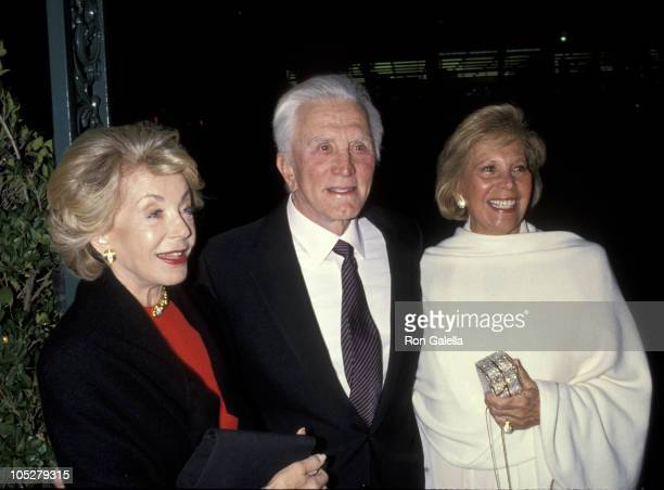 Ann Douglas Kirk Douglas and Dinah Shore during Party For Fredrick DeCordova at Chasen's Restaurant in Beverly Hills California United States