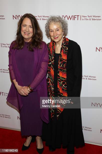 Ann Dowd and Margaret Atwood attend the 2019 40th Annual NYWIFT Muse Awards at New York Hilton Midtown on December 10 2019 in New York City
