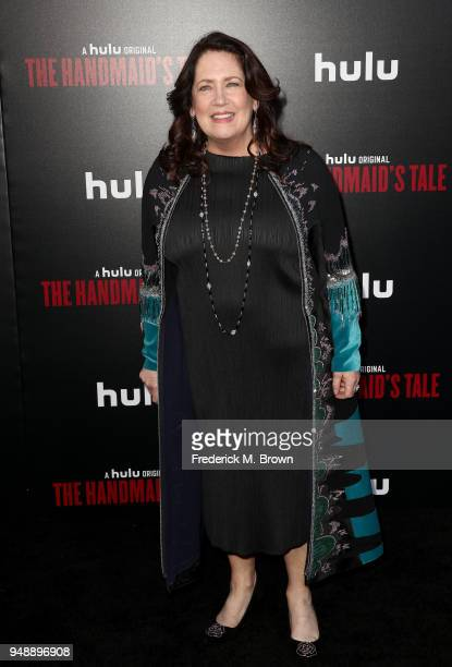 """Ann Dowd attends the premiere of Hulu's """"The Handmaid's Tale"""" Season 2 at TCL Chinese Theatre on April 19, 2018 in Hollywood, California."""