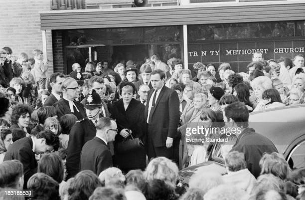 Ann Downey mother of 10 yearold murder victim Lesley Ann Downey at her daughter's funeral 3rd November 1965 Downey was murdered on 26th December 1964...