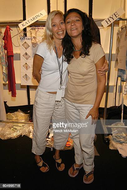 Ann Fistel and Anne D'Agnillo attend LACOSTE Spring 2007 Fashion Show at The Atelier at Bryant Park on September 9 2006 in New York City