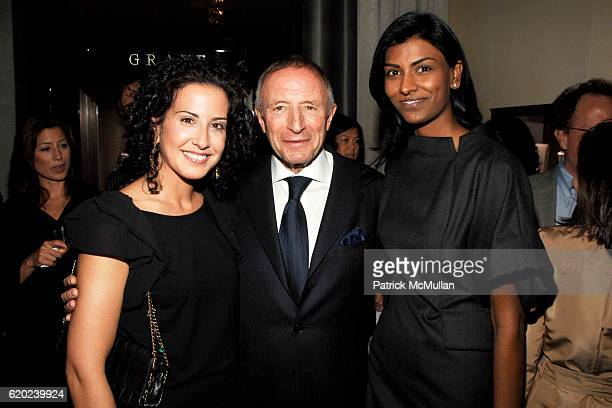 Ann Frank Laurence Graff and Manju Jasty attend GRAFF Flagship Salon Opening hosted by LAURENCE GRAFF at Graff Flagship Salon on November 13 2008 in...