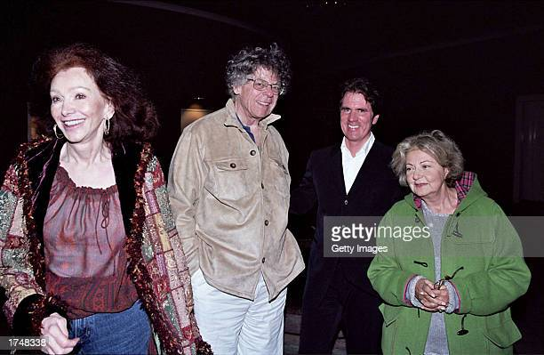 Ann Getty Gordon Getty director/choreographer Rob Marshall and Jeanette Etheridge attend the special screening of Chicago hosted by actress Sharon...