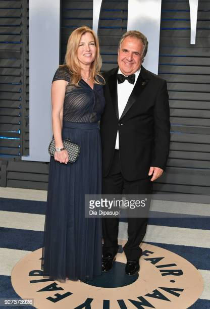 Ann Gianopulos and Chief Executive Officer of Paramount Pictures Jim Gianopulos attend the 2018 Vanity Fair Oscar Party hosted by Radhika Jones at...