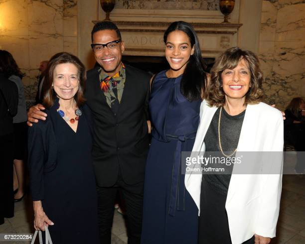 Ann Goodbody Maxwell Amber Tolliver and Pamela Maraldo attend Girls Inc of New York City 2017 Spring Luncheon at Metropolitan Club on April 24 2017...