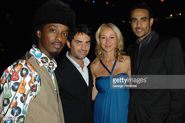 K'ann guest Belinda Stronach and Sol Guy attend OneXOne at Maple Leaf Gardens on September 8 2008 in Toronto Canada