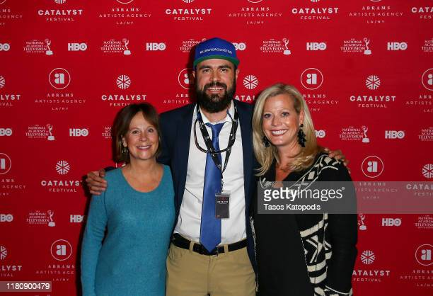 Ann Hanson Nick Hanson and Lindsey Martinson attends the Catalyst Content Awards Gala on October 13 2019 in Duluth Minnesota