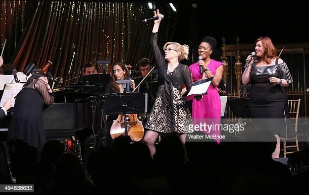 Ann Harada Felicia Finley Rashidra Scott and Alysha Umphress performing at the Dramatists Guild Fund's Gala 'Great Writers Thank Their Lucky Stars'...