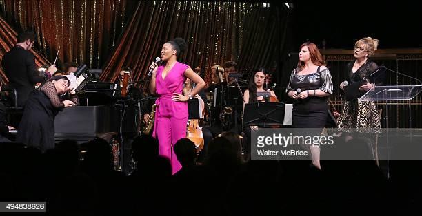 Ann Harada Rashidra Scott Alysha Umphress and Felicia Finley performing at the Dramatists Guild Fund's Gala 'Great Writers Thank Their Lucky Stars'...
