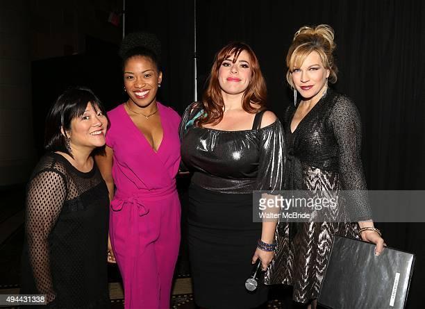 Ann Harada Rashidra Scott Alysha Umphress and Felicia Finley attend the Dramatists Guild Fund's Gala 'Great Writers Thank Their Lucky Stars' at...