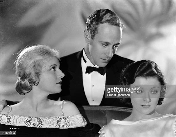 Ann Harding Leslie Howard and Myrna Loy in a scene from the film 'The Animal Kingdom' directed by Edward H Griffith and George Cukor