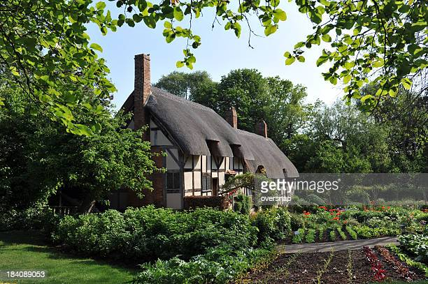 ann hathaway's cottage - tudor stock pictures, royalty-free photos & images