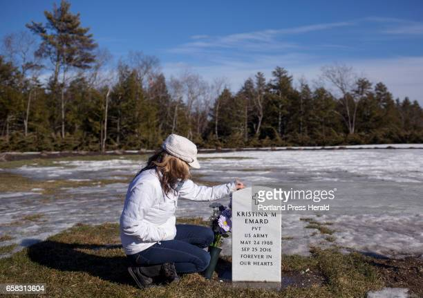 Ann Howgate at her daughters grave in the Southern Maine Memorial Veterans Cemetery While serving in South Korea Emard was sexually assaulted by...