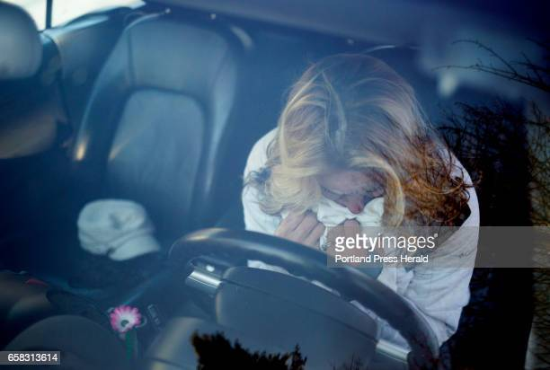 Ann Howgate mother of Kristina Emard poses for a portrait in her daughters car where Emard died of overdose of cocaine and fentanyl on September 25...